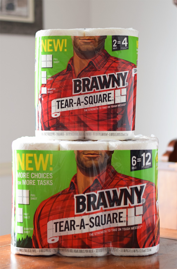 Kid-Friendly Honey Mango Smoothie + Brawny new tear a square AD