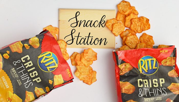 DIY Snack Station Sign + RITZ Crisp & Thins