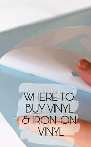 Where to Buy Vinyl and Iron-on Vinyl for a Cricut machine