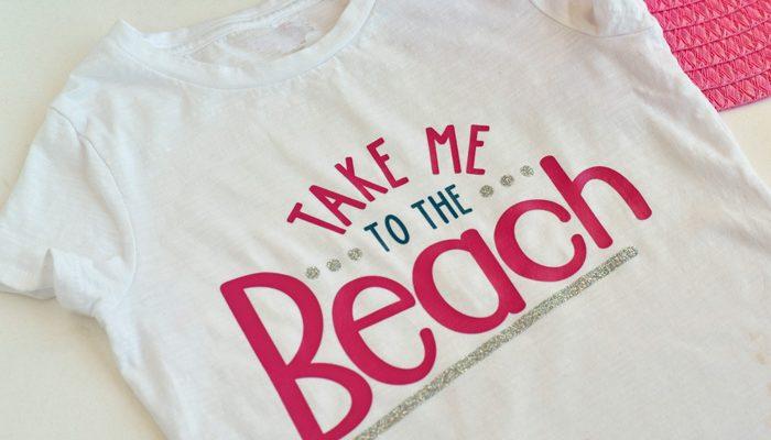 DIY Take Me to the Beach Shirt made with the Cricut machine