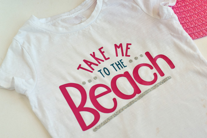 DIY Take Me to the Beach Shirt  made with the Cricut machine