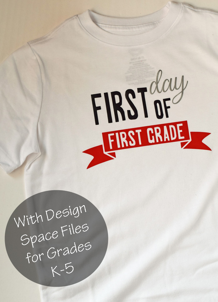 First Day Back to School Shirts with Cricut AD