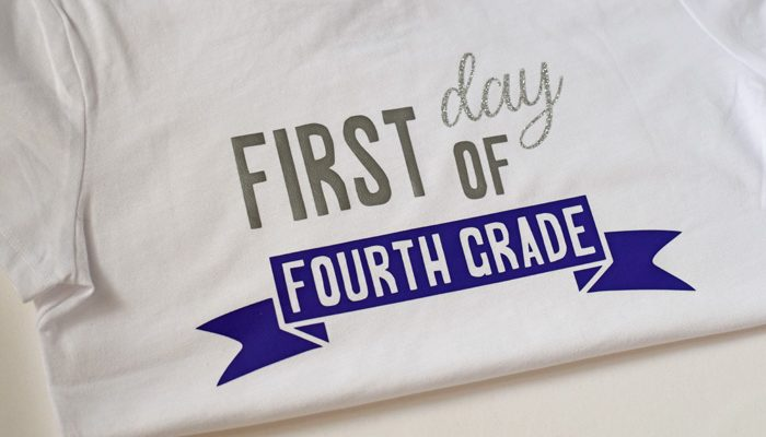 First Day Back to School Shirts with Cricut