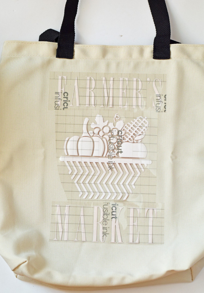 Farmer's Market Tote and Coordinating Coasters with Cricut Infusible Ink