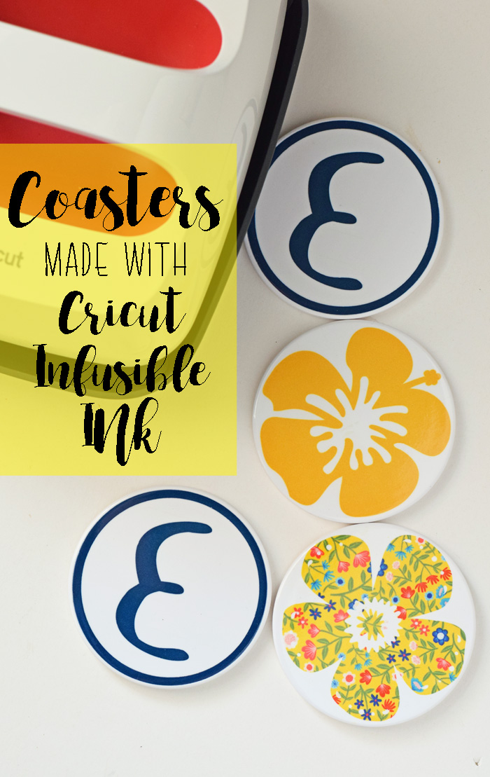 Coasters with Cricut Infusible Ink AD