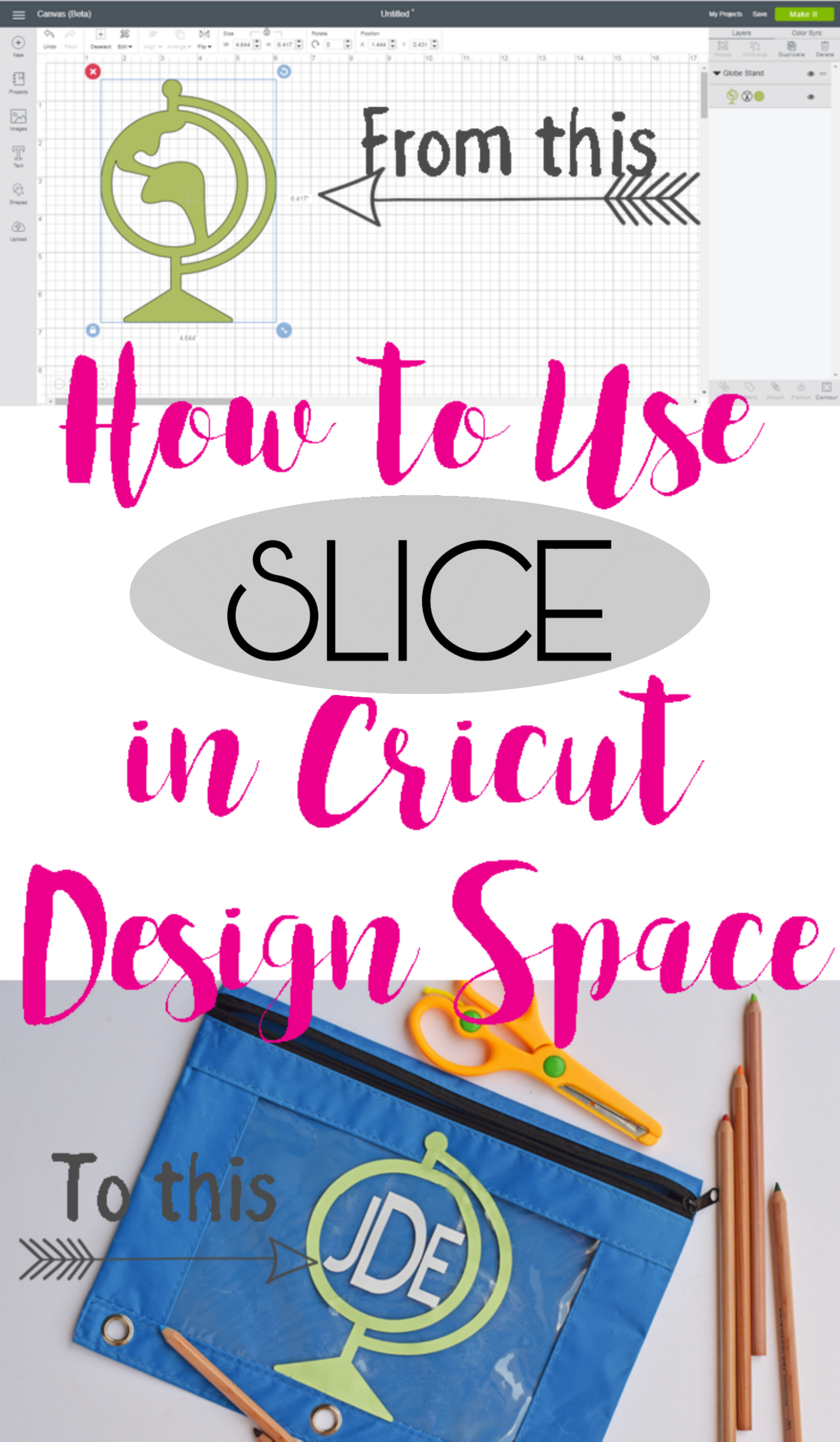 How to Use Slice in Cricut Design Space