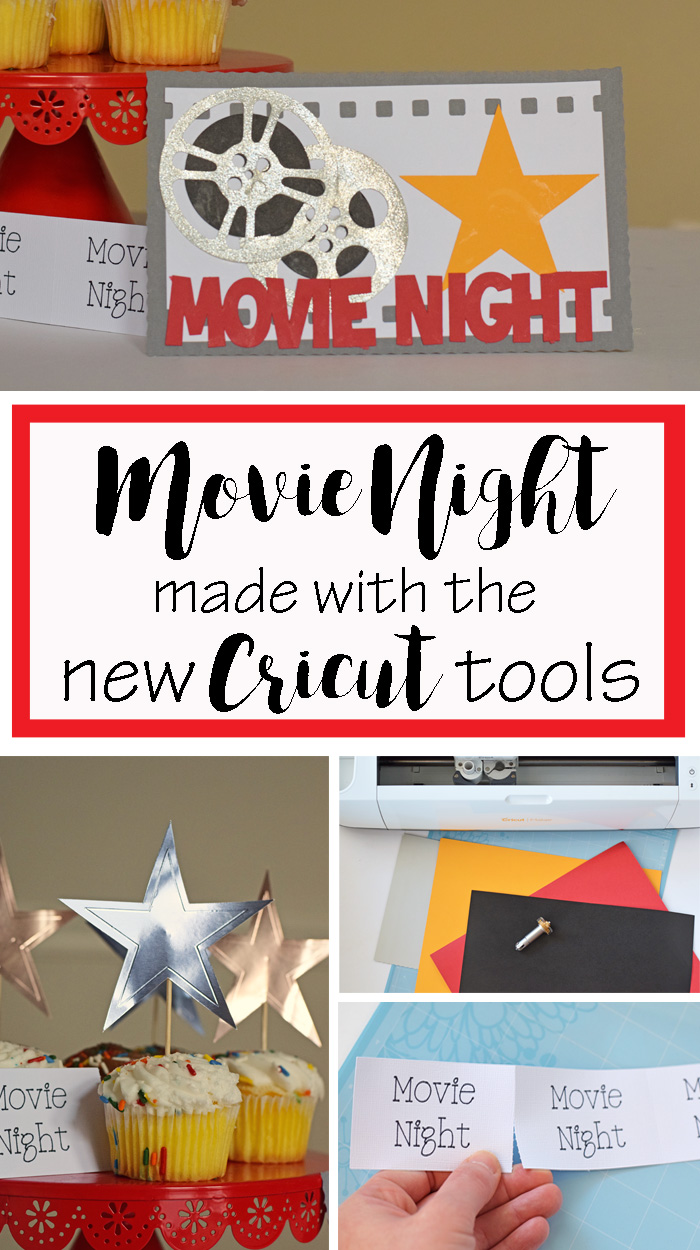 Movie Night made with the New Cricut Tools AD