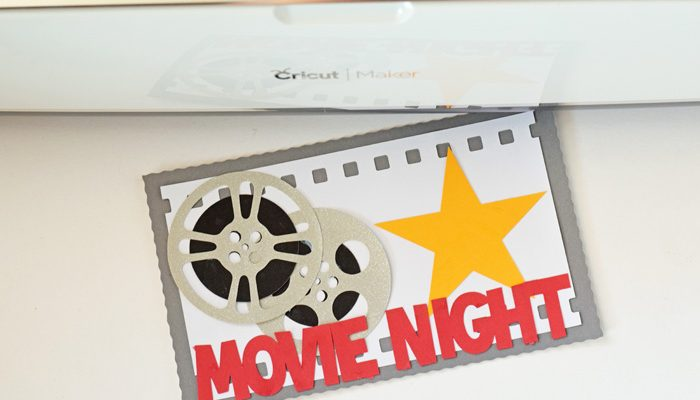 Movie Night made with the New Cricut Tools