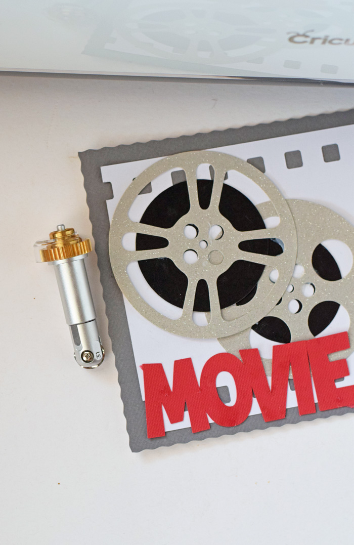 Movie Night Sign made with the Cricut Wavy Blade AD