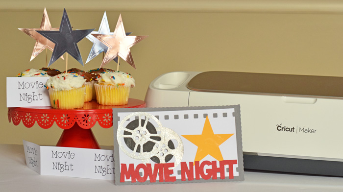 Movie Night Made with Cricut tools AD