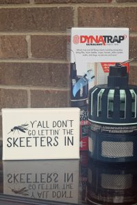 Cute Southern Skeeters Sign and Stopping Bugs with DynaTrap AD
