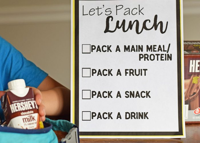 Help Kids Pack Their Own Lunch with a Free Lunch Packing List Printable