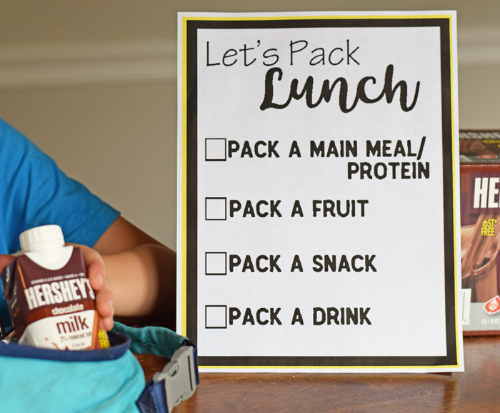 Help Kids Pack Their Own Lunch with a Free Lunch Packing List Printable AD