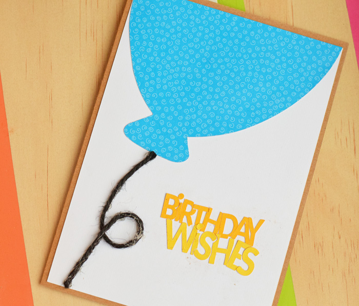 Birthday Wishes Balloon Card made with Cricut