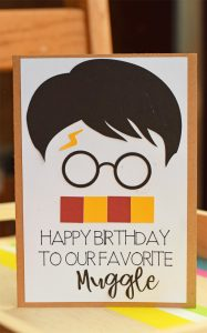 Harry Potter Inspired Birthday Card made with the Cricut
