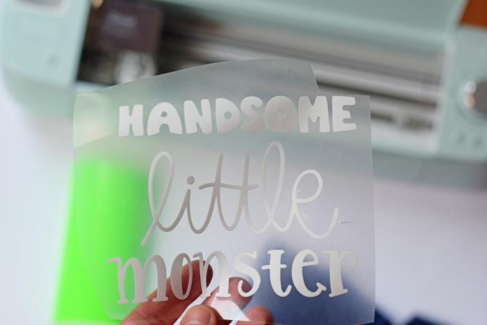 Handsome Little Monster Shirt made with Cricut
