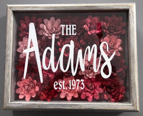 Cricut Personalized Frame Christmas Gift Idea