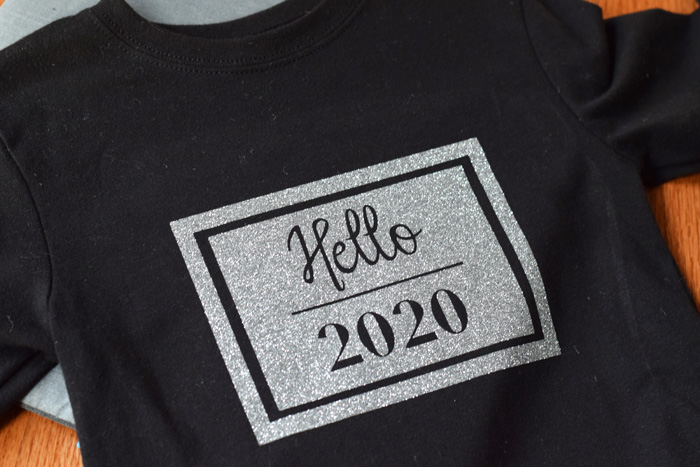 DIY New Year's Shirt for Kids