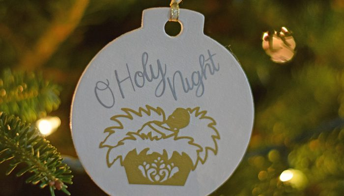 DIY O Holy Night Ornament