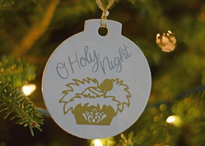 DIY O Holy Night Ornament
