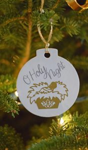 DIY O Holy Night Ornament made with the Cricut Machine
