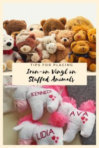 Tips for Iron-on Vinyl on Stuffed Animals