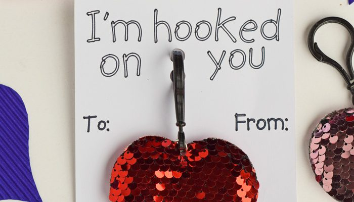 Hooked on You Valentine's Classroom Handout