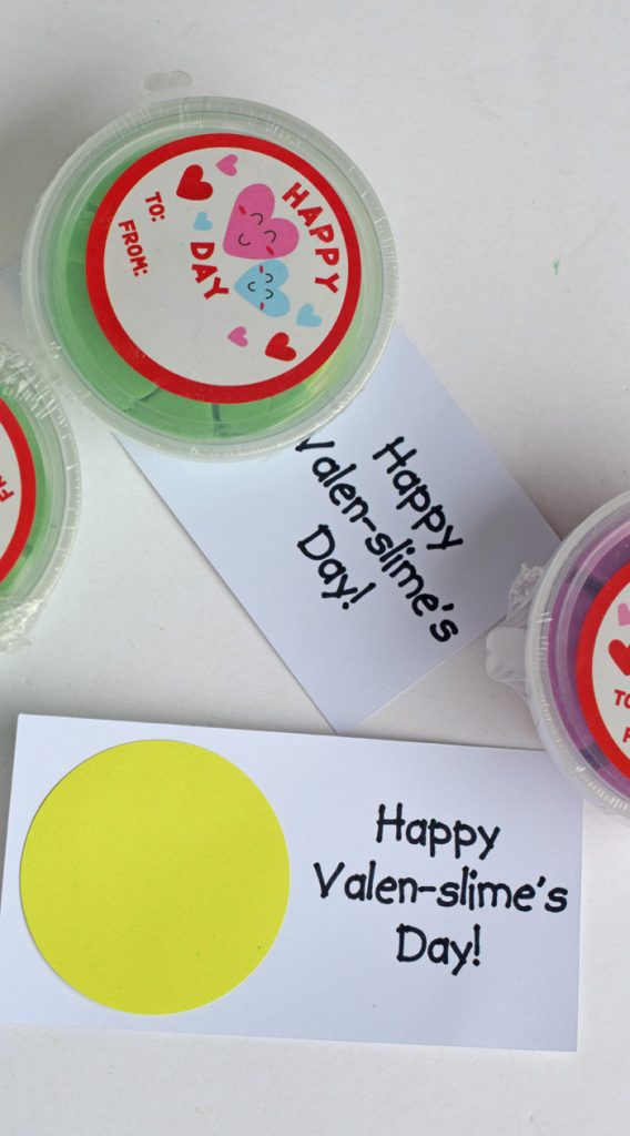 Valentine's Day Slime Classroom Handout