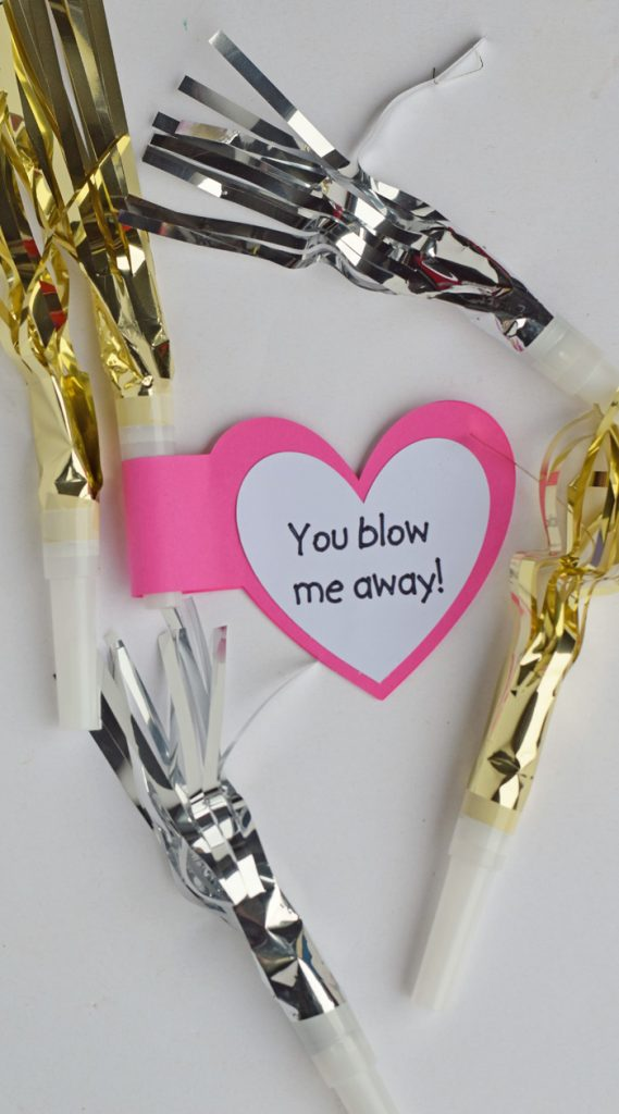 You Blow Me Away Valentine Classroom Handout