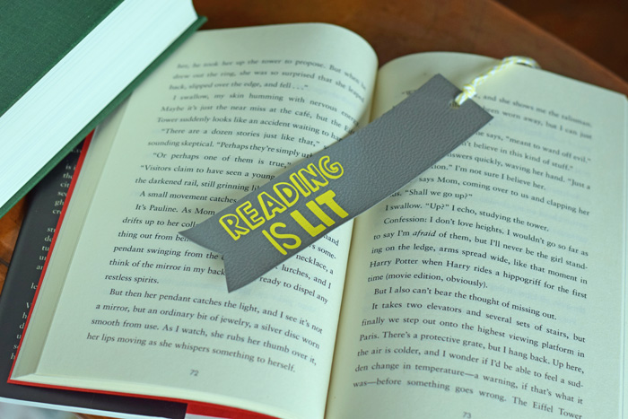 DIY Faux Leather Bookmark