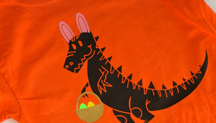 DIY Dinosaur Easter Shirt