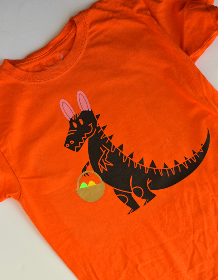 DIY Dinosaur Easter Shirt