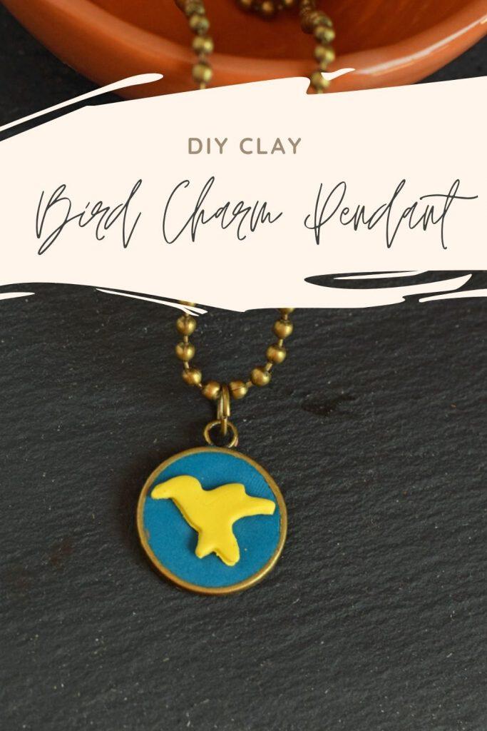 DIY Clay Bird Charm Pendant