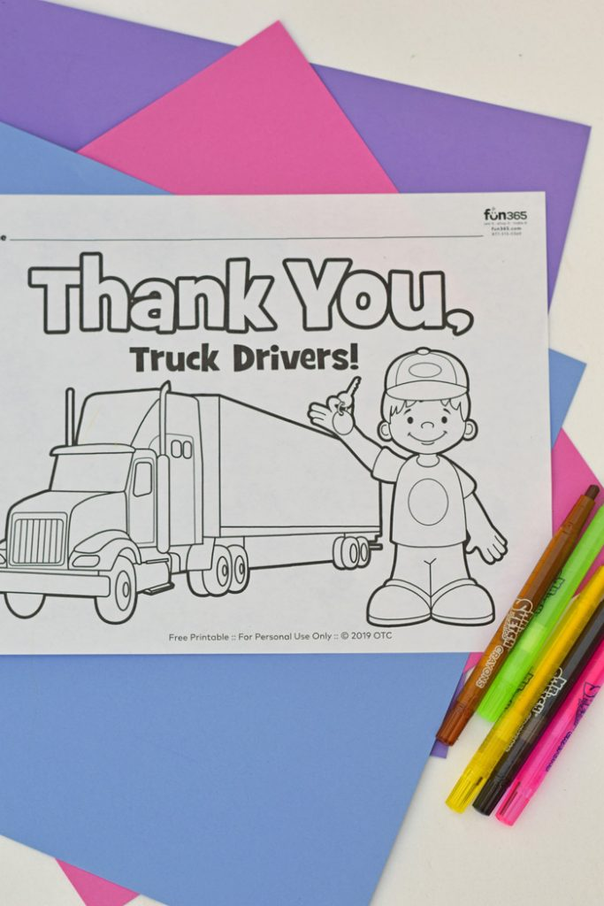 Delivery Workers Thank You Letter and Coloring Page