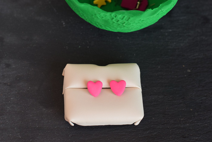 DIY Clay Heart Earrings