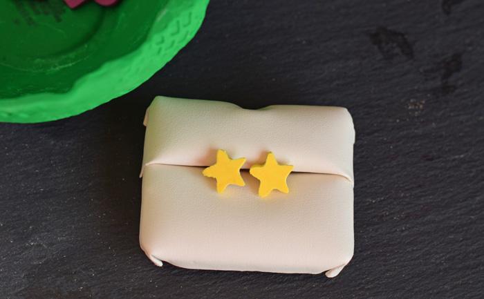 DIY Clay Star Earrings