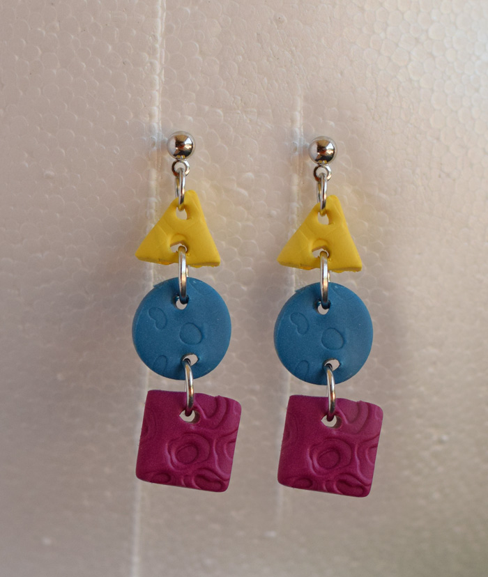 DIY Clay Shape Drop Earrings