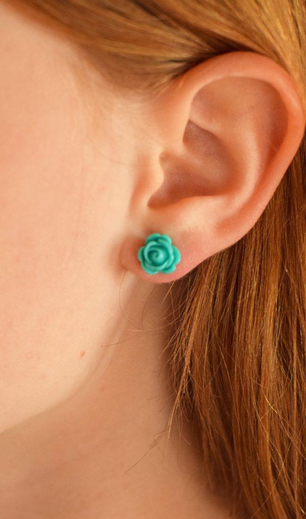 Easy DIY Flower Earrings