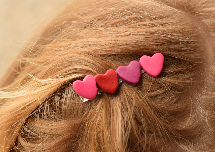 DIY Clay Heart Hair Clip