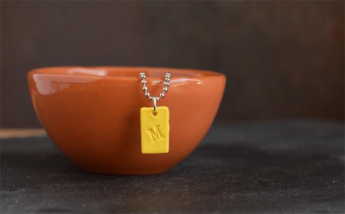 DIY Initial Clay Necklace