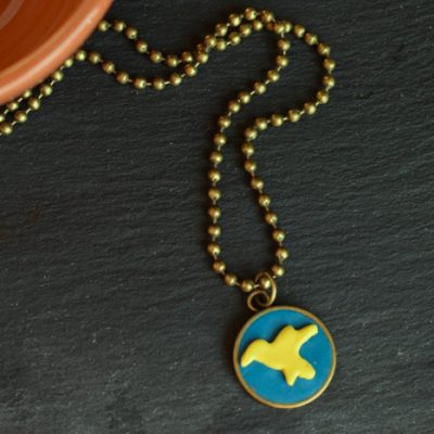 DIY Clay Bird Charm Pendant