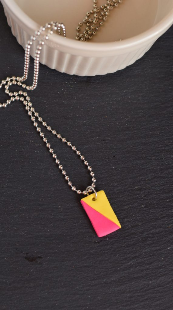 DIY Two Color Clay necklace