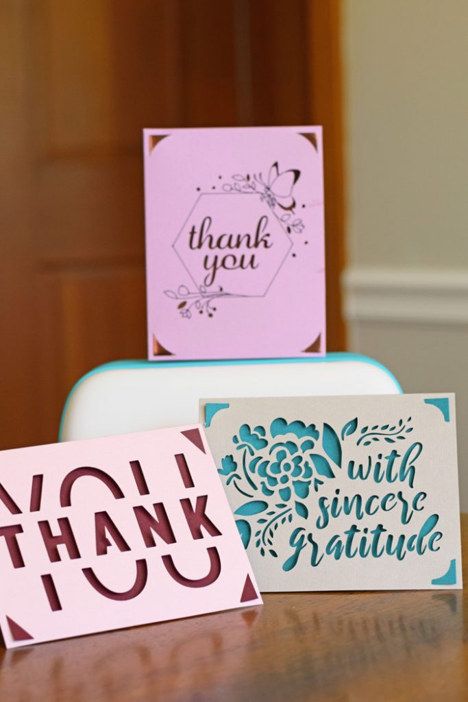 How to Make Thank You Cards with the Cricut Joy