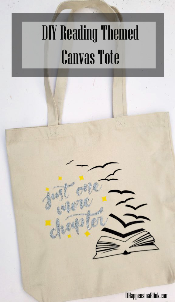 Just One More Chapter Canvas Bag