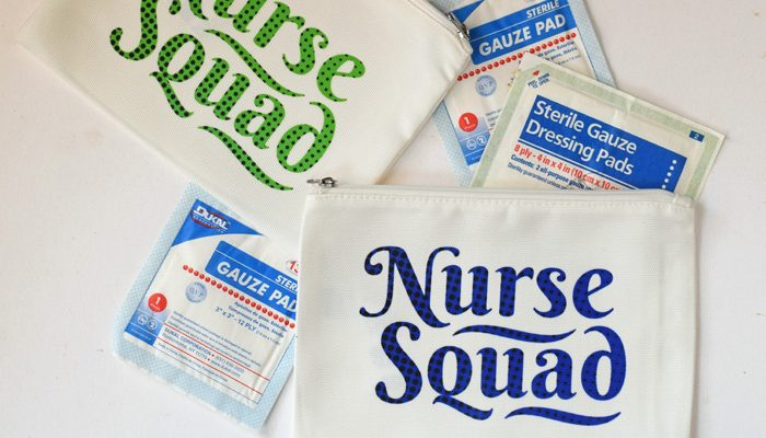 Nurse Squad Cosmetic Bags with Cricut Infusible Ink