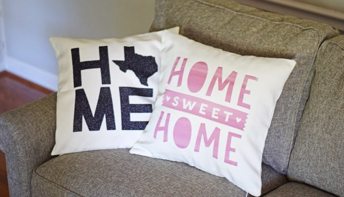 HOME Themed Pillow Covers with Cricut Infusible Ink
