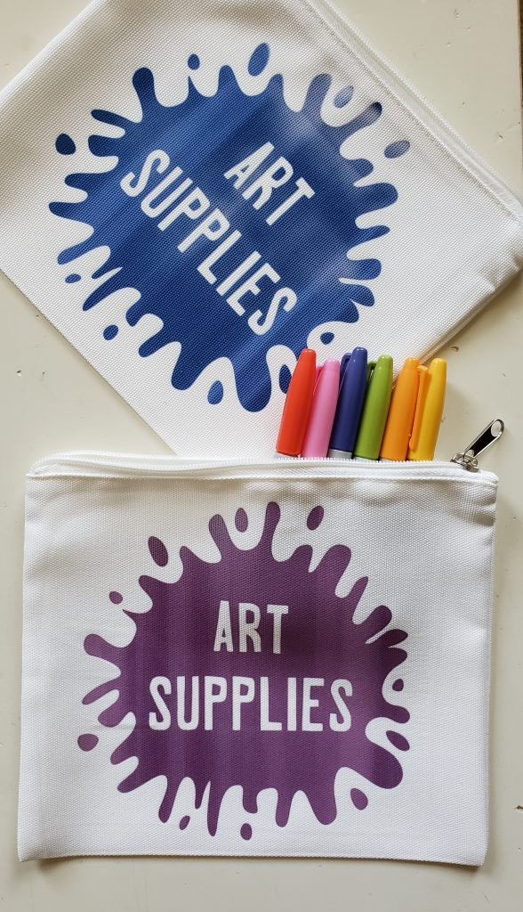 Art Supplies Pouch with Cricut Infusible Ink