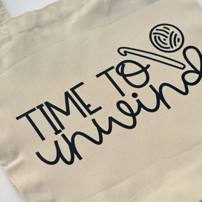 Time to Unwind Yarn Lovers Canvas Bag