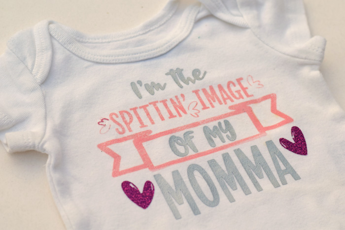 Spittin' Image of My Momma baby bodysuit