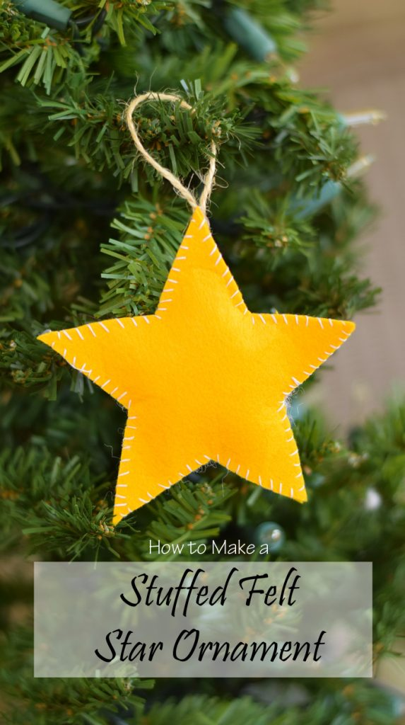 Stuffed Felt Star Ornament